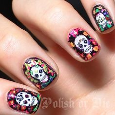Polish days: Something new - day of the dead water decals