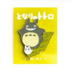 Totoro on Leaf Enamel Pin