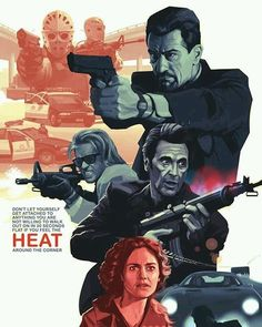 Heat (1995) Exclusive fan art poster