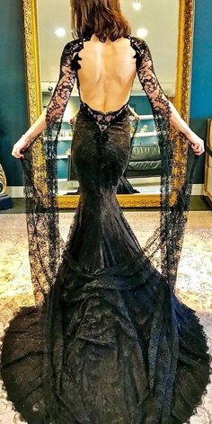 15 Gothic Wedding Dresses: Challenging Traditions ❤ See more: http://www.weddingforward.com/gothic-wedding-dresses/ #wedding #dresses #gothic