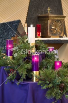 1000 images about advent church decorations on pinterest for Advent decoration ideas