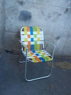 Aluminum Lawn Chairs, reminds me of grandma T