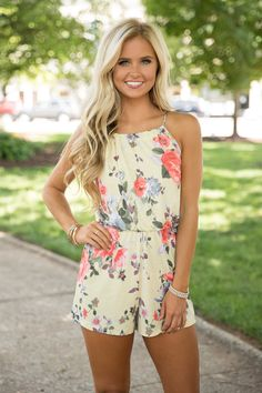 8aea6786db3 Because Of Your Love Romper Yellow - The Pink Lily Summer Outfits For  Teens