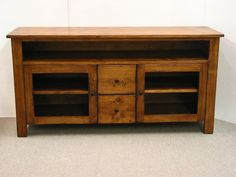 TV Stand Pine TV console Rustic TV Stand by HarvestTreasuresInc, $1100.00