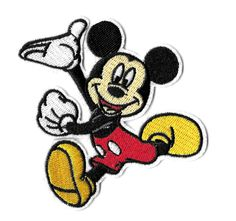 Mickey Mouse - Disney - Cartoon - Embroidered Iron On Applique Patch Cute Patches, Velcro Patches, Iron On Patches, Mickey Mouse Outfit, Mickey Mouse Cartoon, Embroidery Patches, Embroidery Patterns, Disney Patches, Tote Bags