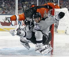 Crashing the net - Stadium Series - Kings versus Ducks 1/25/2014
