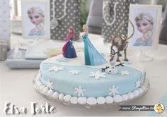 elsa torte Kindergeburtstag kuchen frozen eiskönigin olaf snowman