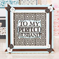 Hubby card made using the @tonicstudiosuk Simply Screens Collection. Click 'Visit Site' to shop now above!