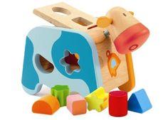 kleurrijke sorteerkoe Maggy DJECO | kinderen-shop Kleine Zebra