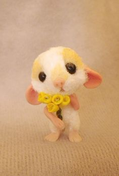 OOAK (One Of A Kind) Minatures & Dolls House Creations TreasuredByU Clay Furred Sculpt Mouse