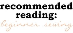 Beginner sewing book recommendations from Megan Nielsen
