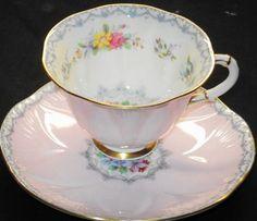 Shelley Lilac Mauve Tea Cup and Saucer
