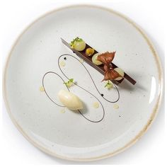 Arnaud Bignon of the Greenhouse delicately plates this dessert at the… - Sweet Food Food Design, Food Plating Techniques, Michelin Star Food, Fancy Desserts, Food Decoration, Culinary Arts, Plated Desserts, Creative Food, Food Presentation