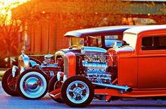 is there anything slicker than red on a hot rod?
