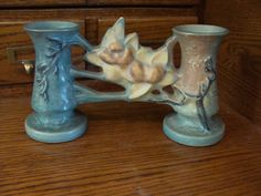 Hey, I found this really awesome Etsy listing at https://www.etsy.com/listing/273502418/roseville-pottery-1943-magnolia-blue