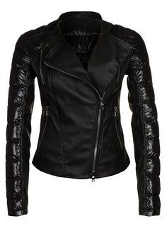Chaqueta de cuero - negro - Biker - P -Ventcouvert - Zalando ❥ Blanco y negro