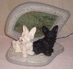 Vintage Black & White Scottish Terrier TV Lamp Scotty Dog Whiskey Scottie picclick.com