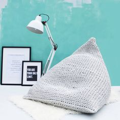 Are you interested in our hand knitted wedge bean bag? With our hand knitted interiors you need look no further.