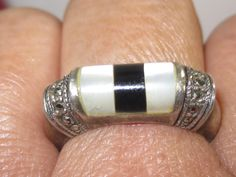 C-55 Vintage Ring  925  silver size 8 by HipTrends2015 on Etsy