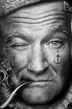 FANTASMAGORIK® ROBIN WILLIAMS by obery nicolas, via Behance Robin Williams, Wolverine, Male Character, Rockin Robin, Arte Horror, People Laughing, Lee Jeffries, Star Wars, Wedding Humor