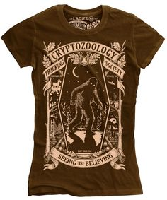 Cryptozoology Tracking Society Ladies by MaidenVoyageClothing, $28.00