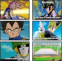 Dragon Ball Z:  Cell's a jerk.