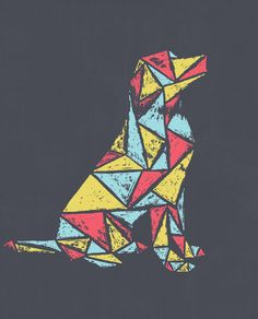 Geometry Dog Flowy Long Sleeve Tee