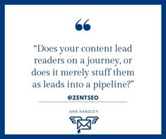 """"""" DOES YOUR CONTENT LEAD READERS ON A JOURNEY, OR DOES IT MERELY STUFF THEM AS LEADS INTO PIPELINE?""""                           - ANN HANDLEY  FOLLOW @ZENTSEO @ZENTSEO .  #zentseo #digitalmarketingquotes #annhandley #digitalmarketingstrategies #digitalmarketingtips #digitalmarketing2020 #digitalmarketingsolutions #digitalmarketinglife #marketingquotes #businessgrowthstrategy #digitalmarketing  #digitalmarketingindia #marketingquotes #marketingadvice #digitalmarketingstrategy Digital Marketing Quotes, Digital Marketing Strategy, Marketing Articles, Simple Way, Ann, Journey, Content, Learning, Blog"""