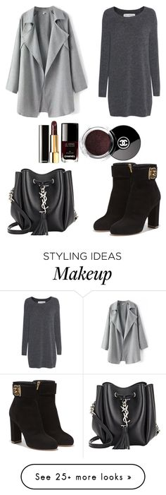 """Bez naslova #197"" by beegeecroatia on Polyvore featuring Yves Saint Laurent, Fine Collection and Salvatore Ferragamo"