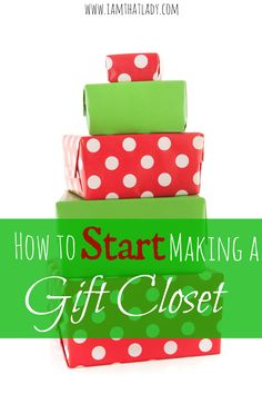 Are you so sick and tired of spending money on gifts? Save hundreds per year by learning how to start a gift closet!