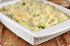 mels kitchen cafe - cheesy broccoli and rice casserole