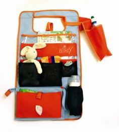Wisey car bag {for next to you or over the back seat - keeps all their junk, er, stuff organized}