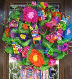 Cinco De Mayo Wreath..maybe not this one, but have to celebrate Cinco de Mayo!!!