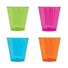 Check out Browse Neon Plastic 2oz Shot Glasses (40 Count) and other Themed…