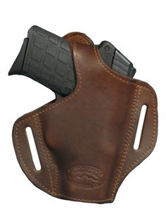 New Brown Leather Pancake Gun Holster Small 380, Ultra Compact 9mm 40 45