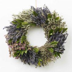lavender, sage & bay herb wreath
