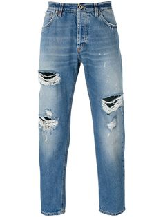 DONDUP Cropped Distressed Jeans. #dondup #cloth #jeans