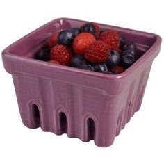 Artland 4-pc. Square Berry Basket Set, Purple (62 CAD) ❤ liked on Polyvore featuring home, kitchen & dining, food storage containers, fillers, food, food and drink, extras, fruit, purple and food baskets