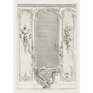 Developement d'un Trumeau de glace fait pour le Portuga, 3rd Plate, Designer: Juste-Aurèle Meissonnier and Engraver: Gabriel Huquier, 1740