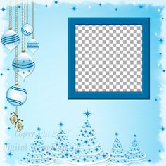 "Layout QP 3C.....Quick Page, Blue, Digital Scrapbooking, Christmas Time Collection, 12"" x 12"", 300 dpi, PNG File Format"