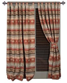 Flying Horse Curtain and Valances | Lodge, Western, Southwest and Southwestern Comforter Sets | PaulsHomeFashions.com