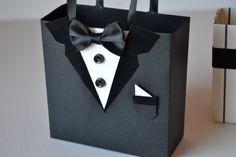 Tuxedo party favor gift bag w/ velvet collar by steppnout on Etsy, $3.50