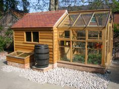 Green house, Glass House and Fruit Cage Construction Backyard Greenhouse, Greenhouse Shed Combo, Shed With Greenhouse, Greenhouse Plans, Backyard Sheds, Garden Furniture, Wood Furniture, Furniture Plans, Outdoor Furniture
