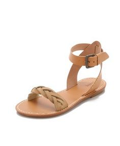 braided ankle strap sandal