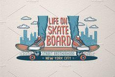 Skateboarding Print by Agor2012 shop on @creativemarket