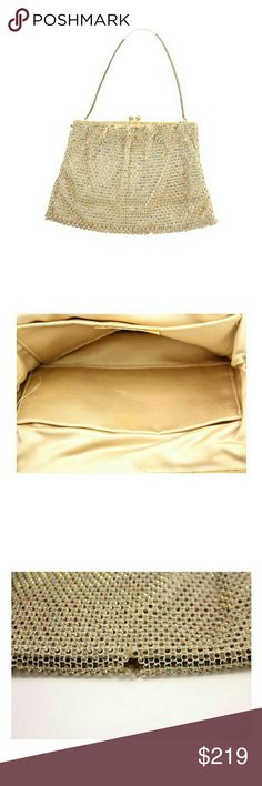 """best&co. Kisslock Evening Clutch 2mis104"" This item will ship immediately!!  Previously owned.  Made In: New York  Measurements: Length: 9"" Width: 0.5"" Height: 6.5""  Handle Drop: 6.4""    Signs of Wear: Scuffs on the exterior. Missing decoration pieces. Rips on the exterior. Light marks on the interior. SKU : 2mis104 BEST&CO. Bags Satchels"