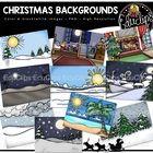 Christmas Background Scenes Clip Art Bundle {Educlips Clipart} Winter Clipart, Background Clipart, Unit Plan, Christmas Background, Interactive Notebooks, Task Cards, Math Centers, Teaching Resources, Lesson Plans