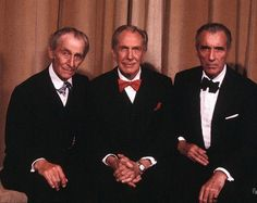Peter Cushing, Vincent Price and Christopher Lee