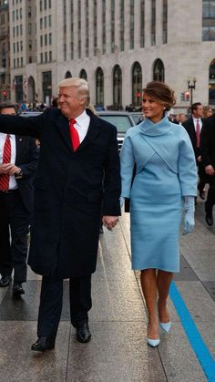 President Trump & First Lady, Melania Trump,- 2017