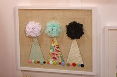 birthday hats on the wall?  yes please!